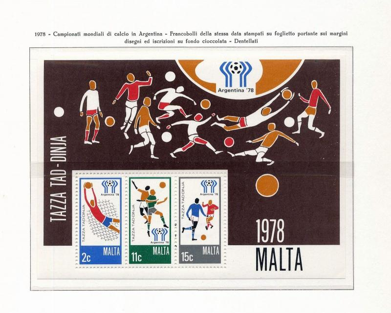 MALTA Soccer Sport Dues Europa Sheets MNH 60+Items (ELF 935