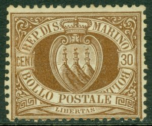 EDW1949SELL : SAN MARINO 1877 Scott #15 VF, Mint No Gum Very Fresh Cat $1,000.00