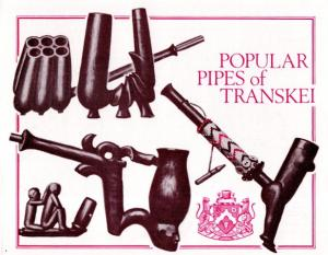 Transkei - 1978 Carved Pipes Collectors Sheet SG 33-36