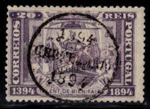 Azores Scott 68 Used, black opt on 1894 navigator stamp