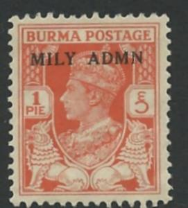 Burma # 35 Military Administration (1) Unused VF