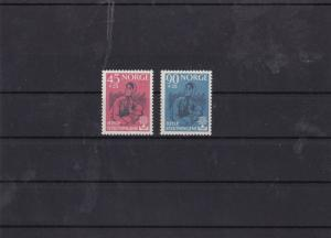 norway 1960 world refugee year mnh stamp set cat £23 ref 7437