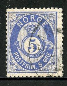 Norway # 24, Used. CV $ 18.00