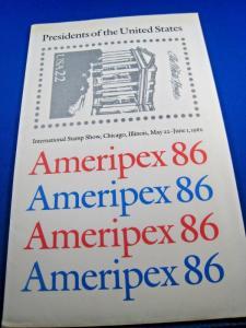 U.S. SCOTT # 2216-2219  -  AMERIPEX 86  -  MNH   (brig)
