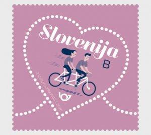 2020 Slovenia Valentine's Day - Love Stamp (Scott NA) MNH