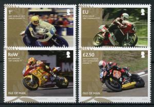 Isle of Man IOM 2017 MNH TT Winners Hislop Joey Dunlop 4v Set Motorcycles Stamps