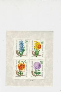 Hungary Flowers  Mint Never Hinged Stamps Sheet ref R17730