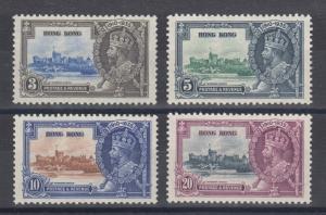 Hong Kong Sc 147-150 MLH. 1935 Silver Jubilee, complete set