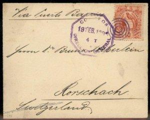 Guatemala 1898 Rorschach Switzerland Cover 92798