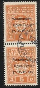 OCCUPAZIONI ITALIANE MONTENEGRO 1941 SEGNATASSE TASSE POSTAGE DUE TAXE 5 D CO...