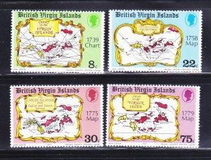 Virgin Islands 320-323 Set MNH Maps
