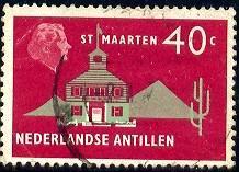 Town Hall, St. Maarten, Netherlands Antilles SC#252 used