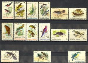 Norfolk Island Sc# 126-140 MNH 1970-1971 Birds