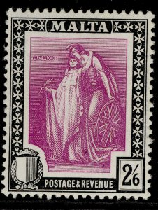 MALTA GV SG136, 2s 6d bright magenta & black, VLH MINT. Cat £13.