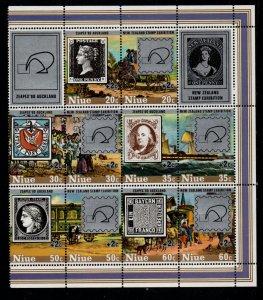 Niue Sc 281-5 1980 Sir Rowland Hill  ZEAPEX stamp set mint NH