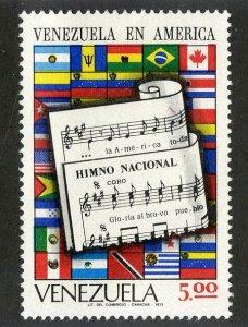 VENEZUELA 998 MNH SCV $4.75 BIN $2.50 FLAGS