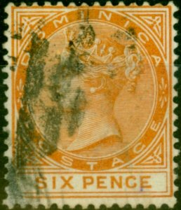 Dominica 1888 6d Orange SG25 Fine Used
