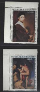 STAMP STATION PERTH Dahomey #C49-C50 Paintings  1967 MNH CV$7.00