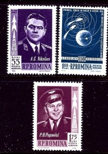 Romania C123-25 MNH 1962 Space set    (ap4216)