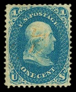 U.S. 1861-66 ISSUES 63  Used (ID # 58834)