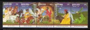 Palau MNH Strip 312 Christmas 1992