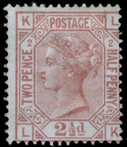 SG139, 2½d rosy mauve plate 2, M MINT. Cat £675. WMK ANCHOR. LK