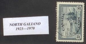 CANADA  BRITISH COLUMBIA CANCEL     NORTH GALIANO