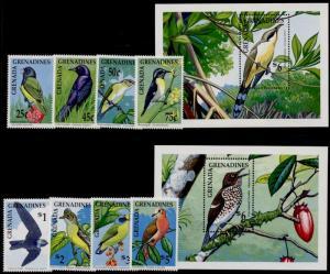 Grenada Grenadines 1190-9 MNH Birds, Flowers, Fruit