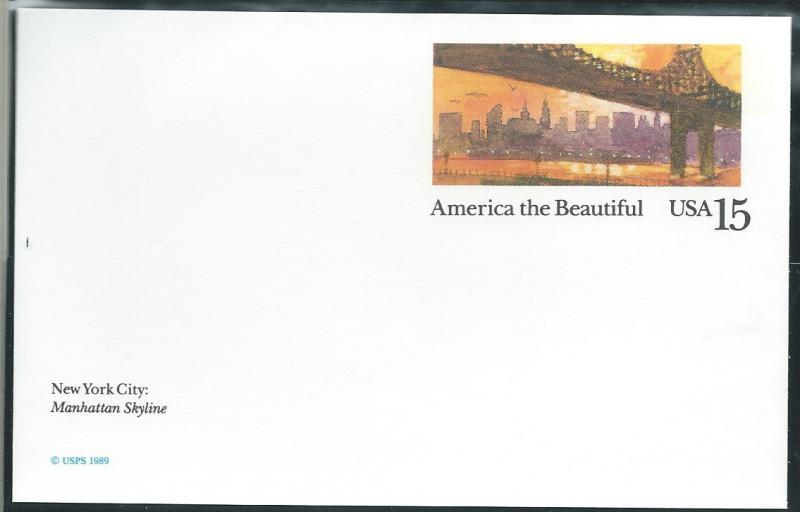 Us Ux137 0 15 Post Card America The Beautiful Unused