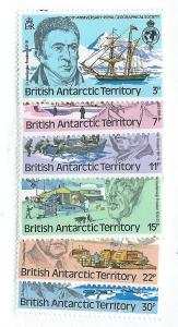 British Antarctic Territory #76-81 Explorers (MNH) CV $2.80