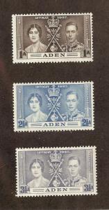 ADEN SC# 13-15 F-VF LH 1937