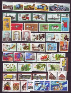 J22675 Jlstamps 1977-8 germany  ddr 10 dif sets mnh #1829//1900 designs