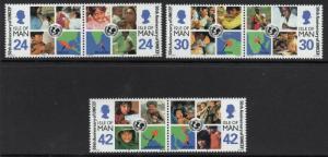 ISLE OF MAN SG713/8 1996 50TH ANNIVERSARY OF U.N.I.C.E.F. MNH