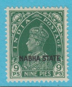 INDIA NABHA 71  MINT HINGED OG * NO FAULTS EXTRA FINE !