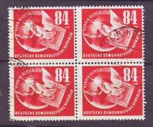 J22434 Jlstamps 1950 germay ddr blk/4 used #b21 dove