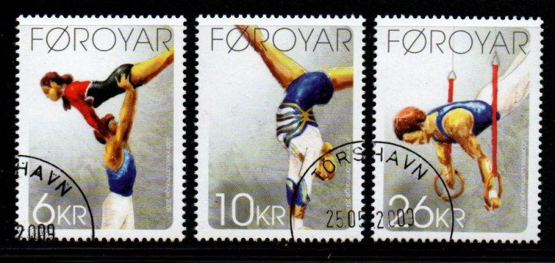 Faroe Islands Sc 514-6  2009 Torshavn Gymnastics Club stamp set used