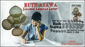 20-174, 2020, Ruth Asawa, First Day Cover, Pictorial Postmark, Japanese American