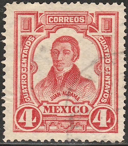 MEXICO 313, 4cts INDEPENDENCE CENTENNIAL 1910 COMMEM. USED. (430)
