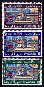 KUWAIT 395-397 USED SCV $3.65 BIN $1.25 TRAFFIC