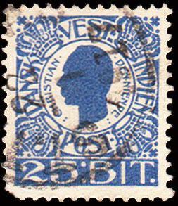 Danish West Indies Scott 34 Used.