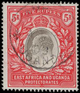 East Africa and Uganda Protectorate Scott 1-13 Gibbons 1-13 Used Set of Stamps
