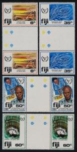 Fiji 438-41 Gutter Pairs MNH International Year of the Disabled