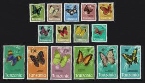 Tanzania Butterflies 15v SG#158-172