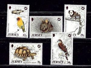 Jersey 456-60 MNH 1988 Wildlife