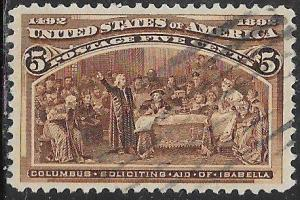 US 234 Used - Columbus Soliciting Aid from Isabella
