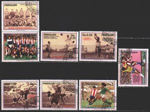 Paraguay. 1986. 3977-83. History of football. USED.