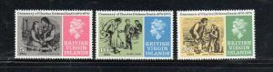 VIRGIN ISLANDS #223-225  1970  CHARLES DICKENS        MINT VF NH O.G