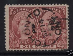 Canada #61 VF Used CDS Cancel  **With Certificate**