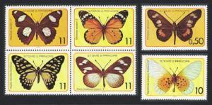 Sao Tome Butterflies 6v SC#501=505