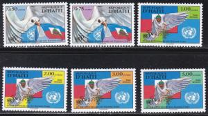Haiti # 866-871, UN 50th Anniversary, NH, 1/2 Cat.